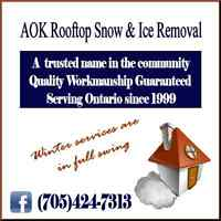 Stop Roof Leaks! AOK Rooftop Snow & Ice Removal
