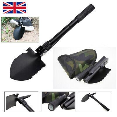 A Army Military Folding Spade Shovel Pick Axe Camping Metal Detecting Mini Tool
