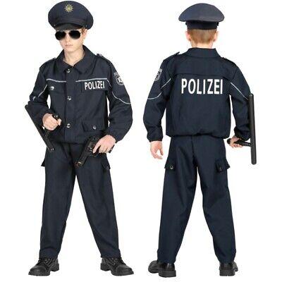POLIZISTEN POLIZEI KOSTÜM & HUT KINDER Deutsche Uniform - Kinder Polizei Uniform