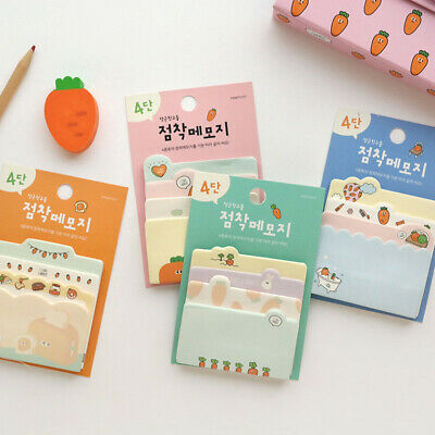 1x80sh Happy Carrot Sticky Notes Memo Pad Bookmark Index Flag Sticker Decoration