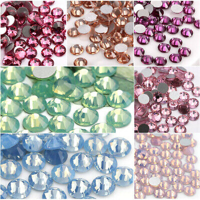 Machine Cut Crystal Opal Nail art Rhinestones Glitter Flatback Nails -