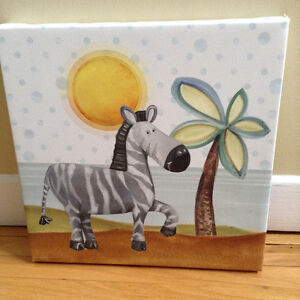 """2 Animal Prints on Canvas 12"""" x 12""""...Excellent Condition!!!"""