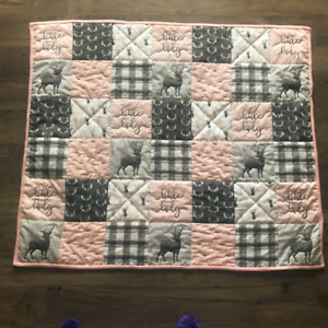 Little Lady and Deer Hand Quilted Blanket