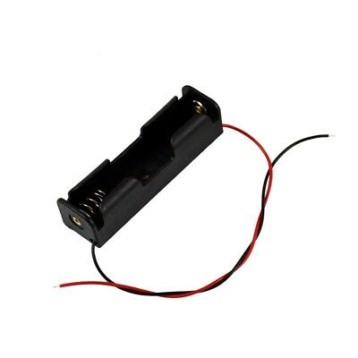 1pcs 3.7v 18650 Battery Holder Box Case Switch Black With Lead Wire