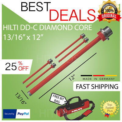 Hilti Diamond Core Bit Dd-c 1316 X 12 T4 5-pack Brand New Fast Shipping