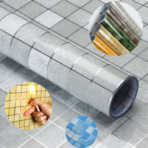 Home Decoration - 2M Kitchen Waterproof Anti-Oil Tile Decal Wall Sticker Self-adhesive Wallpaper