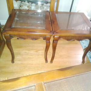 SOLID WOOD COFFEE TABLE, 2 END TABLES & SOFA TABLE