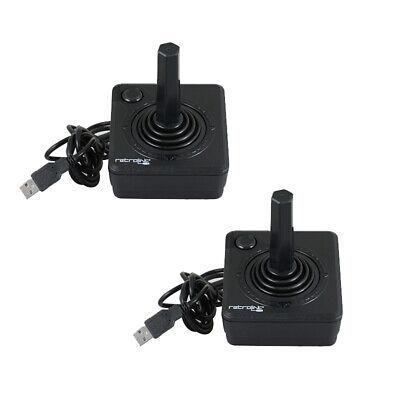 2 X BLACK USB Classic Controller for Atari 2600 Joystick to PC MAC (RetroLink)
