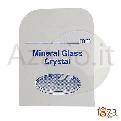 Vetro minerale orologi piano spessore 2.00 mm Flat glass watch part ricambi tool