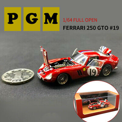 PGM 1:64 Ferrari 250 GTO 19# Diecast Car Model Limited Collectibles Full Open