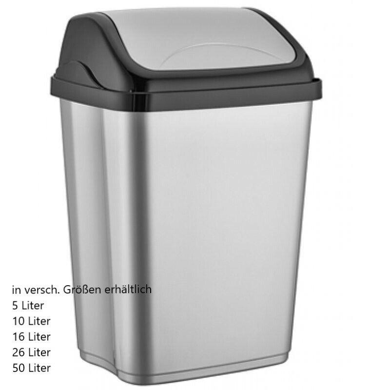 Mülleimer Abfalleimer mit Deckel Eimer Müllsammler verschiedene Größen NEU BHM