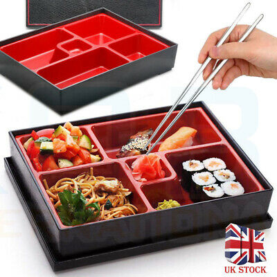 UK SELLER Bento Box Japanese Lunch Box Reusable Chopsticks Rice Sushi Catering Bento Sushi