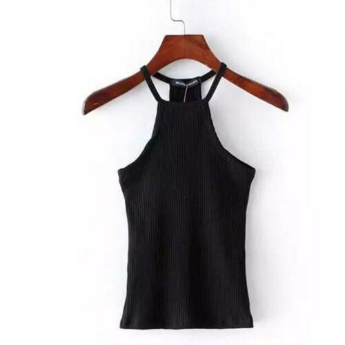 Women Tank Tops Halter Bustier Bra Vest Crop Top Bralette Shirt Cami Blouse W