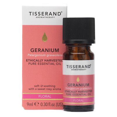Tisserand Geranium Ethically Harvested Pure Essential Oil 9ml (Ethically Harvested Essential Oil)