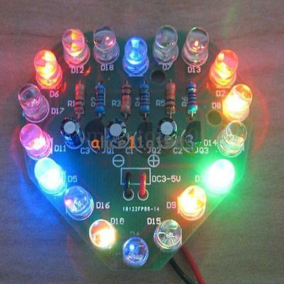 Led Heart Cycle Lamp Suite Led Flashlight Diy Kit Electronic Production Kit