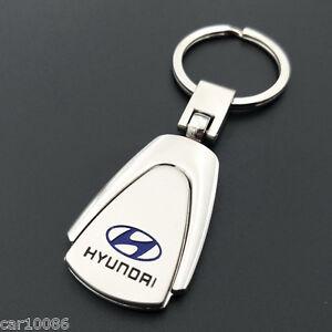 2017 Metal Key Chain Car Logo Pendant Keyfob Holder Silver Key Ring For HYUNDAI