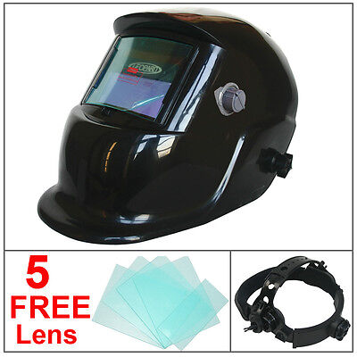 Leopard Auto Darkening Welding Helmet Mask Welders Grinding Solar Power Black