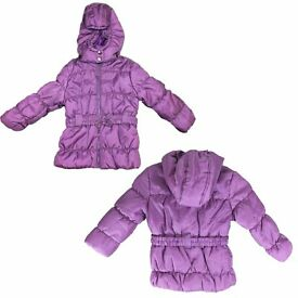 WHOLESALE JOB LOT 14 X GIRLS PADDED SCHOOL / WINTER COATS AGE 1 to 6
