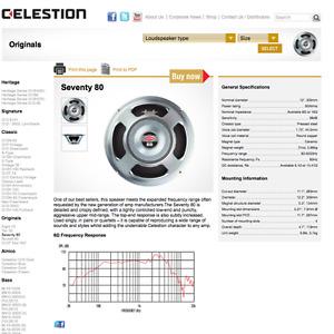 """4x Celestion G12P-80 (12""""/75w/16ohm)"""