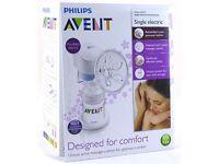 Philips avent electric breast pump + 3 feeding bottles (125ml)
