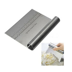 Cake-Butter-Cream-Dough-Scraper-Scale-Cutter-Spreader-Stainless-Steel-IY