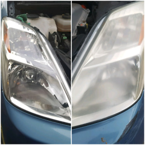 Headlight buffing Hollywood Detailing does that