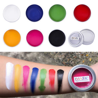 Professional 7 Colors Face Body DIY Painting Oil Art Stage Make Up Set Kit 12g](Face Paint Diy)