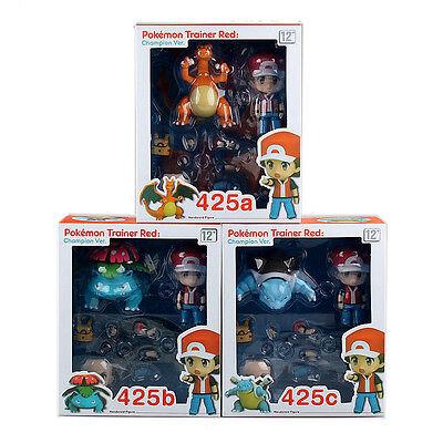 Pokemon Ash Ketchum Charizard Blastoise Venusaur 4'' Action Figures Anime Toy UK
