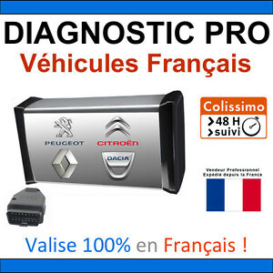 valise de diagnostic pro v hicules fran ais autocom delphi diagbox can clip ebay. Black Bedroom Furniture Sets. Home Design Ideas