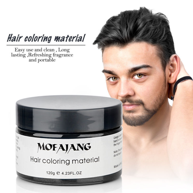 Disposable Hair Coloring Wax Mud Black Grey Dye Festival Party