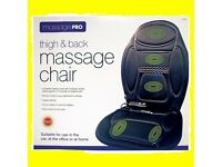 Thigh & Back Massage Pro Chair for Car Office or Home 5 Program Modes Heat NEW
