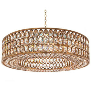 Crystal Gold-Leaf Pendant/Chandelier JOHN RICHARD AJC-8944
