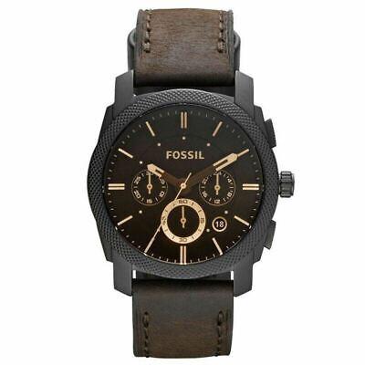 FOSSIL FS4656 Brown Leather Chronograph Quartz Men's Watch