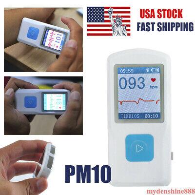 Handheld Portable Ecg Ekg Machine Heart Beat Monitor Usb Bluetooth Recorder Home
