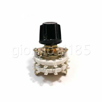 US Stock 4 Pole 5 Position Throw 4P-5T Ceramic Rotary Switch For RF Power