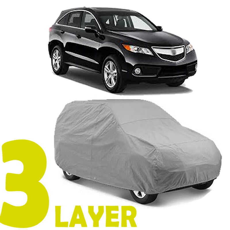 TRUE 3 LAYERS GRAY FITTED SUV COVER INDOOR/OUTDOOR WATER