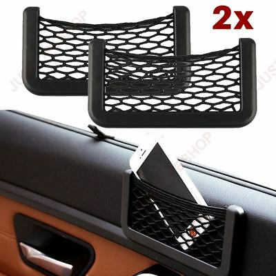 2 x Car Van Storage Pocket Mobile Ecig Cigarette Wallet Holder Net Organiser Bag
