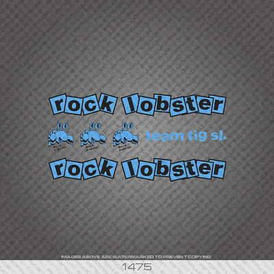 Set 1 Rock Lobster Bicycle Decals Transfers  Stickers