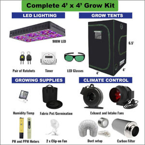 4' X 4' COMPLETE Grow Kit for Cannabis & Vegetables GrOh Canada