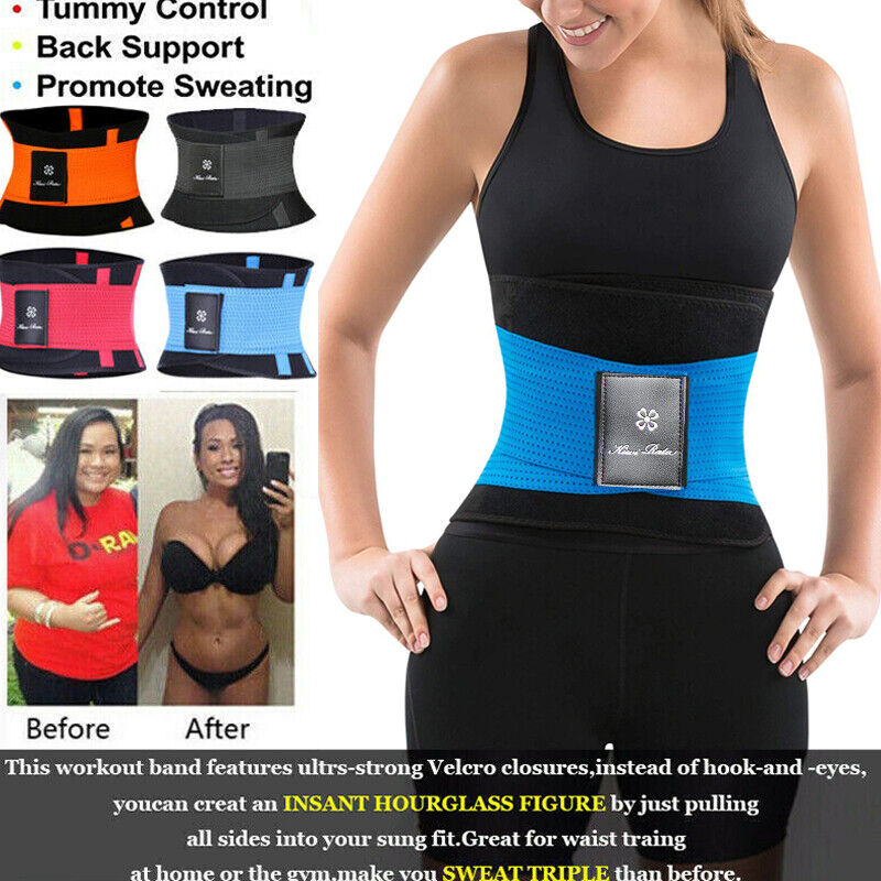 Xtreme Power Belt Slimming Sweat Thermo Sport Abs Wrap Body