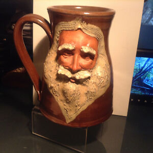 Vintage Pottery Face Mug Cup Collector Signed