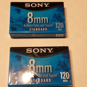 Cassettes Sony 8mm 120 min neuves, brand new