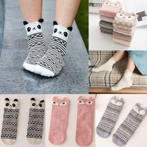Damen 3D Cartoon Tiere Socken Katze Abdrücke Warm Socken Baumwolle