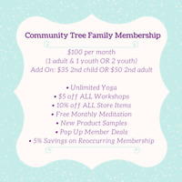 The Community Tree Yoga Studio -- Child & Youth Yoga!