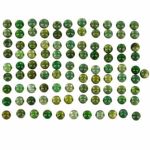 100 Pcs/3mm Natural Chrome Diopside Round Vivid Green Dazzling Gemstones Lot