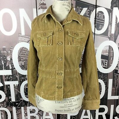 Old Navy Tan Cord Button Down Jacket Size Small ()
