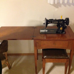Singer sewing machine, table model.
