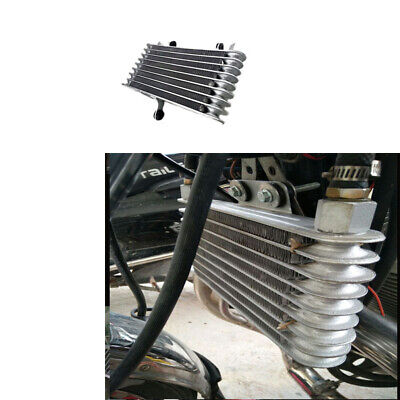 Silver Motorcycle Aluminum Oil Cooler Radiator 125cc 250cc Fit For Yamaha Honda
