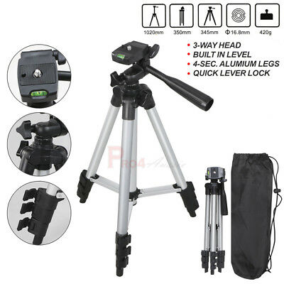 Universal Portable Aluminum Tripod Stand + Bag For Canon Nikon Camera Camcorder