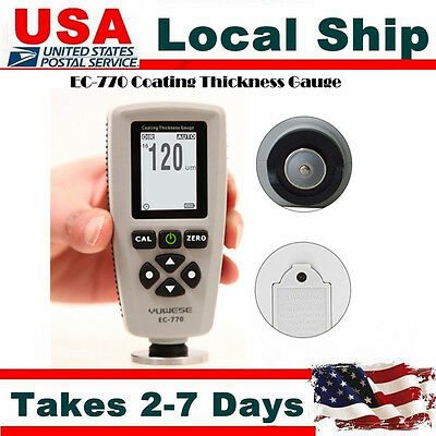 Ec-770 Car Paint Film Coating Thickness Meter Tester Measure Detection Probe Usb